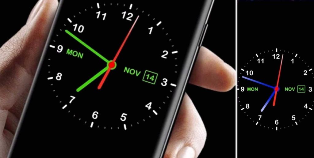 как вернуть часы на экран Android