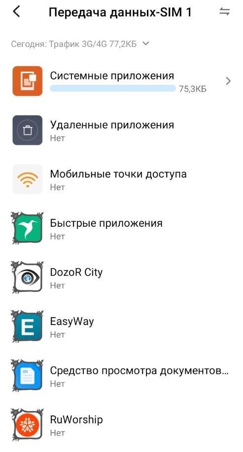 как посмотреть расход трафика на Android