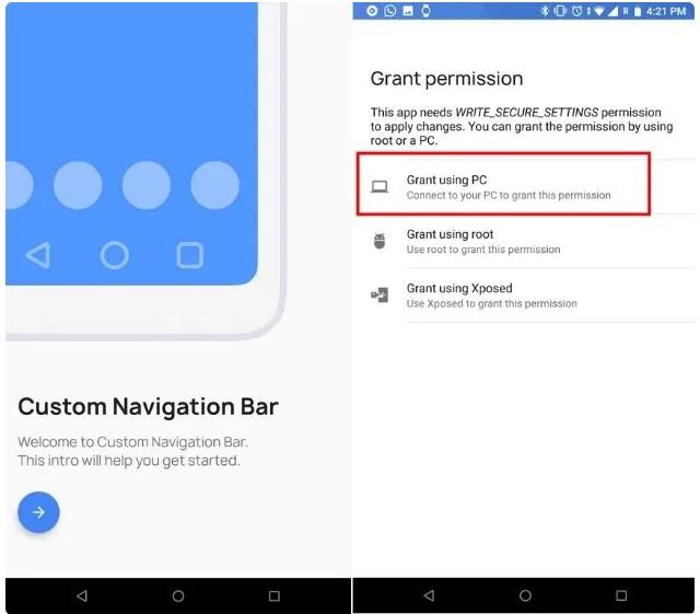 как убрать кнопки навигации на Android